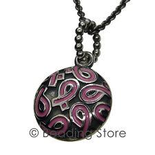 NEW Pandora Pink Ribbon Enamel Breast Cancer Pendant 80cm Necklace 390326EN24-80