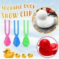 2Pcs Duck Snowball Clip Winter Snow Ball Maker Sand Mold Sport Outdoor Kids Toys