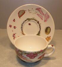 NEW Tea Cup & Saucer Bouquet  From GIEN