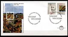100. aniversario del accidente de vincent van gogh. FDC. países Bajos 1990