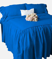 """1 Piece 800tc Egyptian Cotton Dust Ruffle Bed Spread 20"""" drop all size & color"""