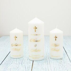 Personalised Wedding Candle, Wedding Unity Candle,Church wedding candle,Catholic