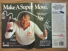Original 1989 Diet Coke & John Madden Vintage Print Ad Sports Illustrated 2 page