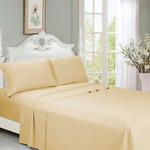 Queen Size Bed Sheet Set 6 PCS Deep Pocket Ultra Soft Cool Microfiber Beding