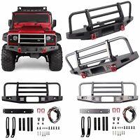 1:10 Metal Front Bumper for Traxxas TRX-4 Defender Axial SCX10 II 90046 RC Car