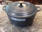 RARE! Le Creuset GRANITE Gray Enameled Cast Iron Round Dutch Oven 7.25 qt  6.7L