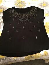 Women's Black Next T Shirt With Stud Detail Size 12
