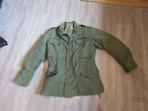 Italian Army O.D Green Field Jacket Size S/&M good used condition,free shipping