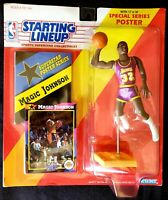 1992 MAGIC JOHNSON #32 Kenner Starting Lineup Figurine/Card Los Angeles Lakers