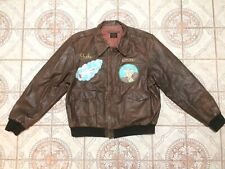 Flight Flyers Jacket Bomber Pilot Air Force Hand painted Aero Type A-2 A2 ww2