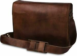 Old Jungle Vintage Men's Leather Satchel Shoulder Laptop Bag Messenger Briefcase