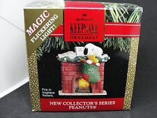 1991 PEANUTS #1, THE STOCKINGS WERE HUNG BY THE CHIMNEY HALLMARK ORNAMENT