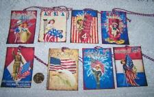 Vintage~Primitive~4th of July~Patriotic~Linen Cardstock~Gift~Hang~Tags
