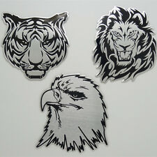 3D Tiger Lion Head Shaped Metal Car Badge Sticker Auto Decal Emblem Motor Trunk