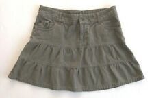 Billabong Womens Faded Khaki Green 3-Tiered Above Knee Skirt 100% Cotton Size 8