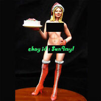 Model Kits Nude Girl Figure Holding Cake Resin GK Unpainted Unassembled 5.9''H