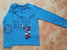 Langarmshirt, Pullover, blau, Gr.104