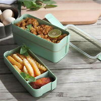 3 Layer Portable Food Container Lunch Box with  Flatware Storage Bento Boxes FY