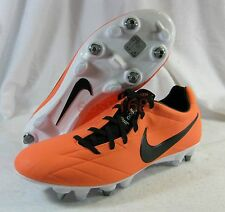 New Nike T90 Laser IV SG Pro Sz 9 Mens ITALY 42.5 Metal Cleats Soccer Orange