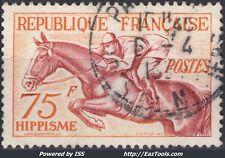 FRANCE : 75 F HIPPISME DE LA SERIE JO DE 1952 N° 965 OBLITERE