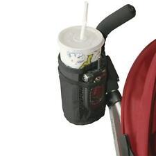 New Baby Stroller Cup Holder Drink Pocket Bag Phone Holder Pram Straw Black B