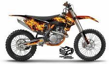 "KTM SX SX-F XC 250 350 450 Graphic wrap decal kit ""Hothead"" 2013-2015"