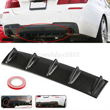 Universal Lower Rear Body Bumper Lip Diffuser Shark Spoiler Gloss Carbon 5Fin US