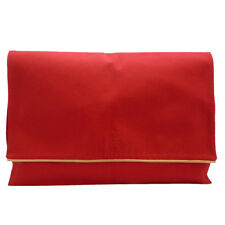 Authentic HERMES Travel Shirt Case Clutch Bag Red Cotton #S211063