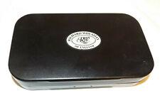 Black Richard Wheatley Aluminum Fly Box Flat Foam + Compartments