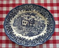 Ravensdale Pottery Ltd Staffordshire England Oval Serving Platter, Village Scene