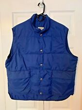 Vintage LL Bean Insulated Goose Down Puffer Vest Mens XL HIKING, Camping,FISHING