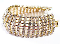 Rhinestone Bracelet 8 Row Austrian Crystal