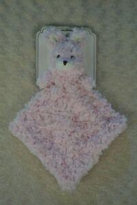 Sumersault Pink Bunny Rabbit Lovey Snuggle Buddy Security Blanket White Plush