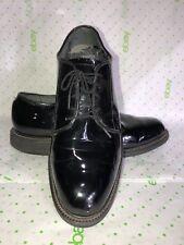 Bates Vibrant Long Wearing Uniform Shoes Black Patent Oxford Men's 8D