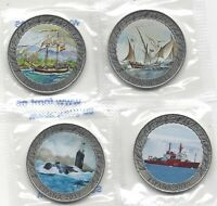 Spanien Geschichte von die Navigation 1 1/2 Euro Nickel 4 Werte 5ª Seri