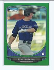 Ryan McMahon RC 2013 Bowman Chrome Draft 1st RC Green Refractors #/75 BDPP31