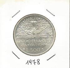 VATICANO - 500 Lire Argento Sede Vacante 1978 (2)