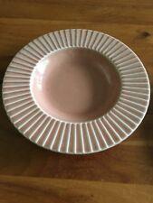 "Pagnossin Ironstone Dusty Pink LL09 Triviso Italy Ribbed Rim  9.5"" Bowl"