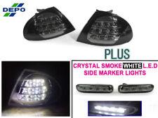 DEPO 99-01 BMW E46 4D/5D Black LED Corner Lights + LED Smoke Side Marker Lights