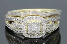 10K YELLOW GOLD .44 CARAT WOMEN DIAMOND ENGAGEMENT RING WEDDING BAND BRIDAL SET
