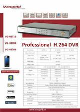 Système ENREGISTREUR video H.264 DVR VG-H8704