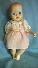 """VTG '71 IDEAL""""TINY TEARS"""" BABY DOLL.DRINK & WET.WITH ORIGINAL DRESS.13""""H.VG.COND"""