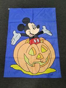 Mickey Mouse Walt Disney Large Banner Flag Pumpkin Jack-o-lantern Halloween Fall