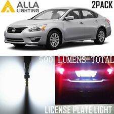 Alla Lighting License Plate Light Tag Lamp 194 White LED Bulbs for Nissan Altima