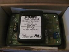 NEW DATEL AC/DC  POWER SUPPLY DMS-PS1-CM IN 85-264V OUTPUT 5VADC / 1.00A