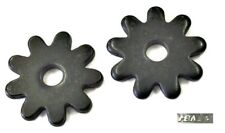 """Ropers 9 Point Spur Rowels 1"""" Black Steel Sold in Pairs New from Eddy's Tack"""