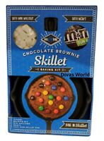 M&M's Chocolate Brownie Mix & Bake Skillet Pan Baking Kit With Mini Mallows Gift