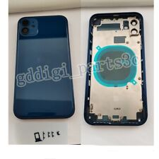 Back Door For iPhone 11 Replace To iPhone 12 Metal Glass Battery Housing Cover