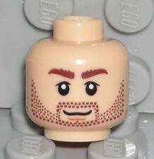 LEGO Light Flesh Head Dual Sided Beard Stubble Dastan Minifigure 7572