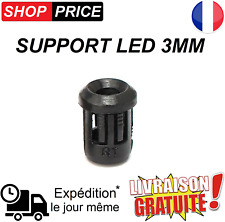 Lot supports LED 3mm (clip de fixation - douille)